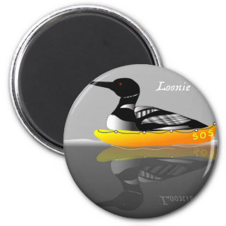 Loonie The Loon 2 Inch Round Magnet