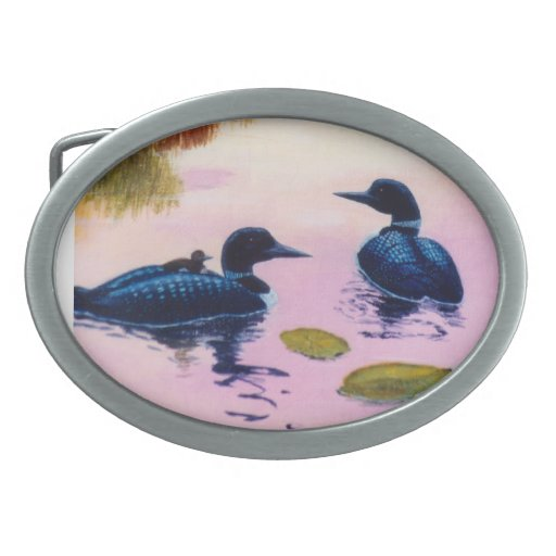 Loons At Twilight Belt Buckle