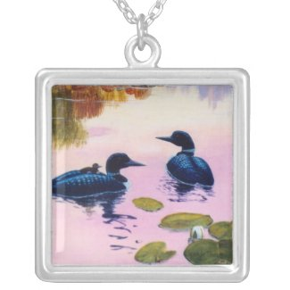 Loons At Twilight Necklace