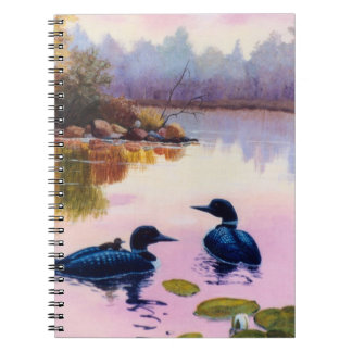 Loons At Twilight Notebook