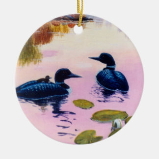 Loons At Twilight Ornament
