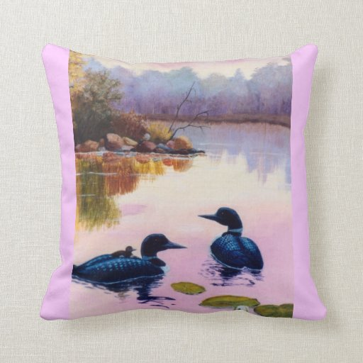 Loons At Twilight Pillow
