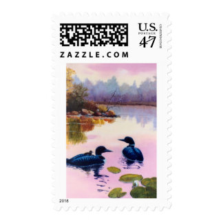 Loons At Twilight Postage
