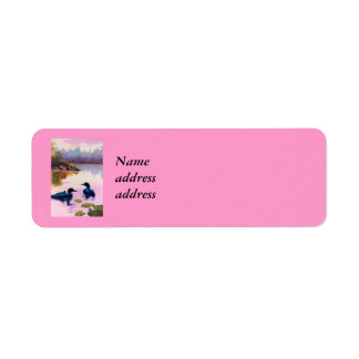 Loons At Twilight Return Address Labels