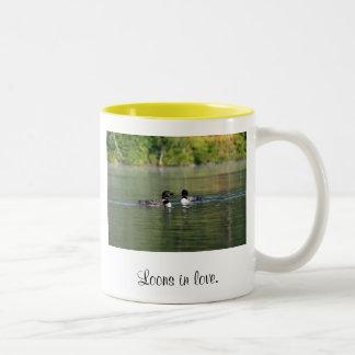 Loons in Love Two-Tone Coffee Mug