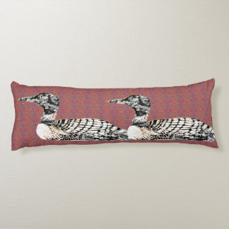 Loons on Patterned Body Pillow