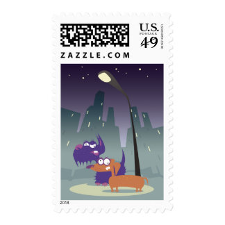 Loony Dogs Postage Stamps
