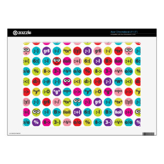 Loony Emoticons Acer Chromebook Skins