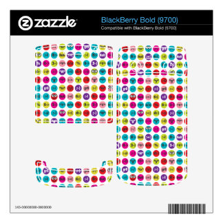Loony Emoticons Skin For BlackBerry Bold