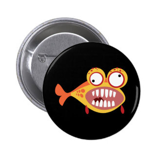 Loony Fish 2 Inch Round Button