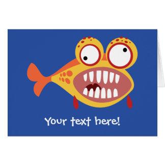 Loony Fish Greeting Card