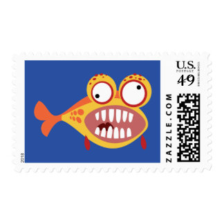 Loony Fish Postage Stamps