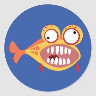 Loony Fish Classic Round Sticker