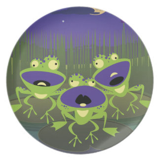 Loony Frogs Dinner Plate
