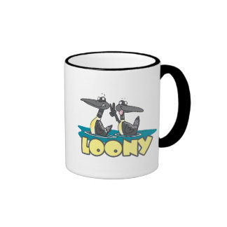 loony loons bird cartoon ringer coffee mug
