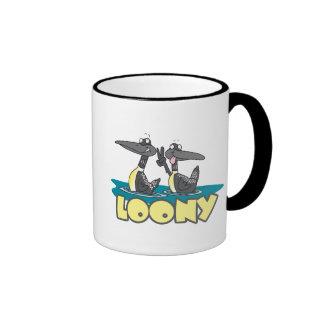 loony loons bird cartoon ringer mug