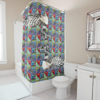 Loony Patterns Quilt Shower Curtain