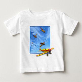 Loop Aerobatic maneuver with Airplane Baby T-Shirt