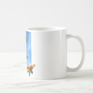 Loop Aerobatic maneuver with Airplane Classic White Coffee Mug