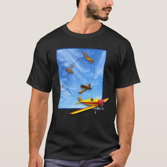 Loop Aerobatic maneuver with Airplane T-Shirt