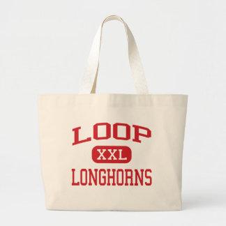 Loop - Longhorns - Loop High School - Loop Texas Large Tote Bag