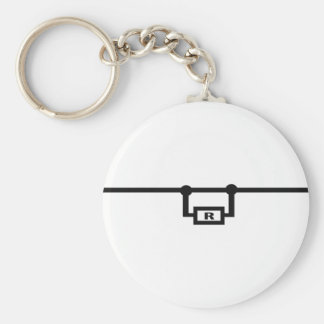 loop resistance icon basic round button keychain