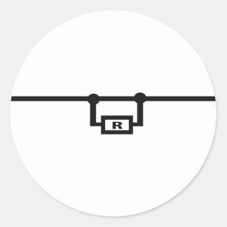 loop resistance icon classic round sticker