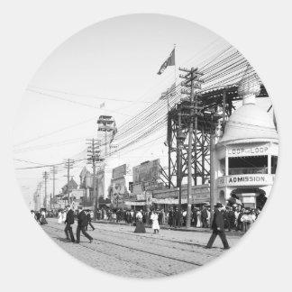 Loop the Loop Ride, Surf Avenue, Coney Island 1903 Stickers