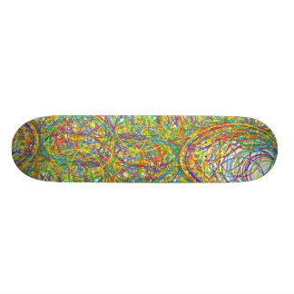 loops  awesome colors red blue green yellow purple skateboard deck