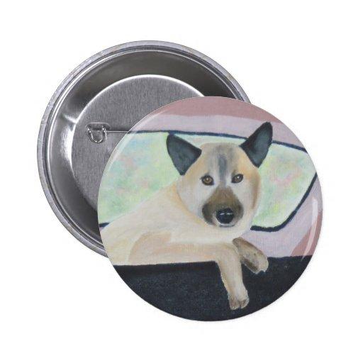 Loopy - German Shepherd Mix Pinback Button