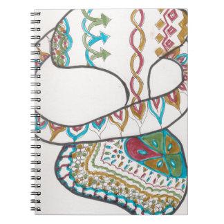 Loopy hoop spiral notebook
