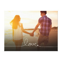 Loopy Love Heart String Knot Modern Photo Canvas