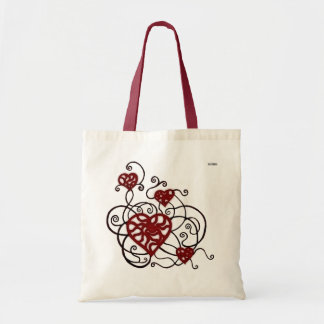 Loopy Love Heart Trellis Budget Tote Bag