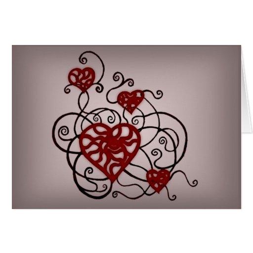 Loopy Love Heart Trellis Card