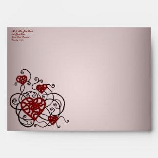 Loopy Love Heart Trellis Envelope