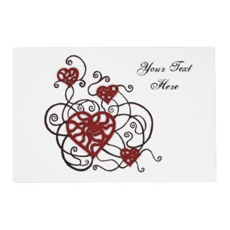 Loopy Love Heart Trellis Placemat