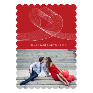 Loopy Love Lines Heart Valentine Photo Greetings Card