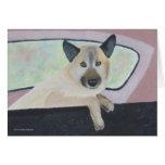 Loopy - Shepherd Mix - Dog Portrait Card