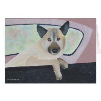 Loopy - Shepherd Mix Portrait Card