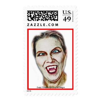 Loopy Vampire Postage Stamp