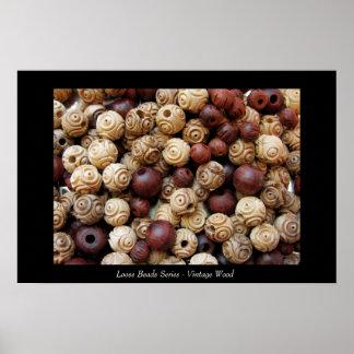 Loose Beads Series - Vintage Wood Poster