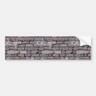 Loose brick wall car bumper sticker
