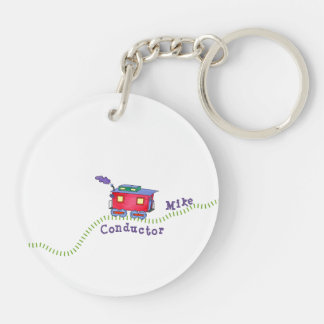 Loose Caboose Clickety Clack Conductor Train Keychain