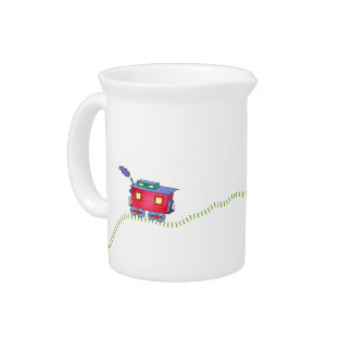 Loose Caboose Clickety Clack Train Drink Pitcher