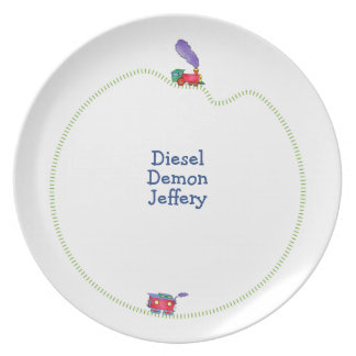 Loose Caboose Clickety Clack Train Party Plate