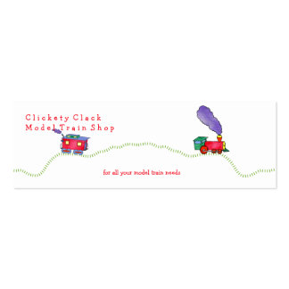 Loose Caboose Clickety Clack Train Shop Business Cards