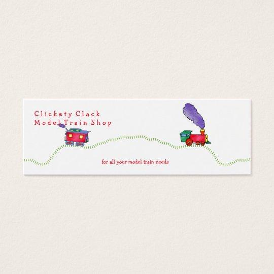 Loose Caboose Clickety Clack Train Shop Mini Business Card