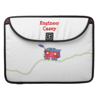 """Loose Caboose Clickety Clack Train Tracks 15"""" Sleeve For MacBook Pro"""