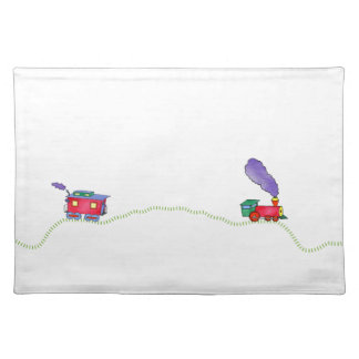 Loose Caboose Clickety , Clickety Clack Train Cloth Place Mat