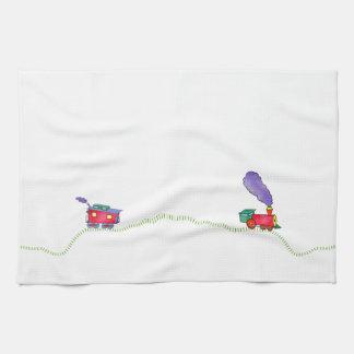 Loose Caboose Clickety, Clickety Clack Train Hand Towel